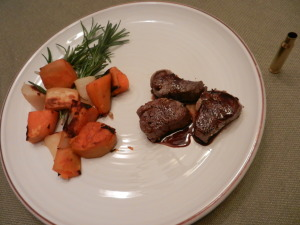 First venison dinner, proudly prepared by Olivia who was one of the students in the program.