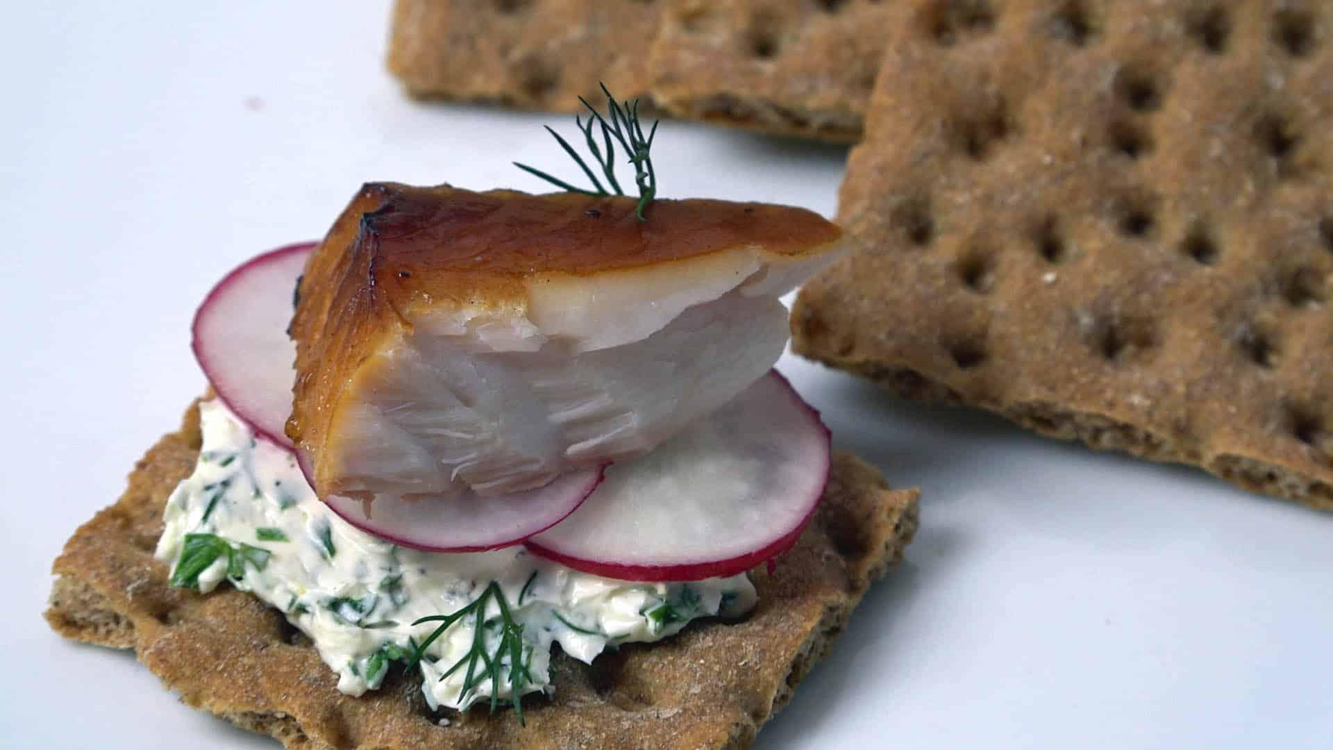 Lemon dill cream cheese spread to accompany smoked fish for White fish dip recipe