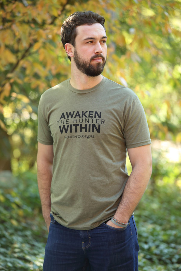 Awaken The Hunter Within T-shirt Men's Green