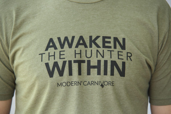 Awaken The Hunter Within T-shirt Logo Men's Green