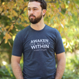 Awaken The Hunter Within T-shirt Men's Blue