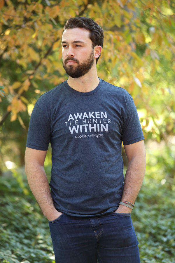 Awaken The Hunter Within T-shirt Modern Carnivore