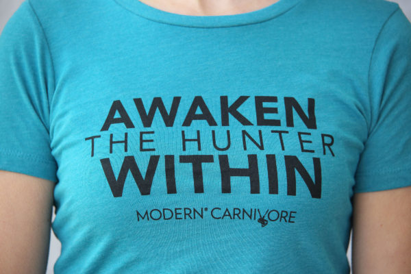 Awaken The Hunter Within T-shirt Women's Teal Logo