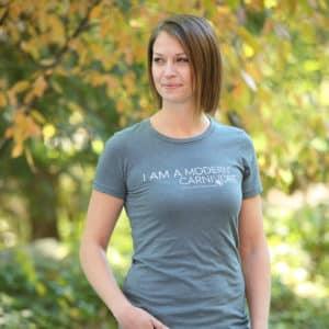 I Am A Modern Carnivore T-shirt Women's Indigo
