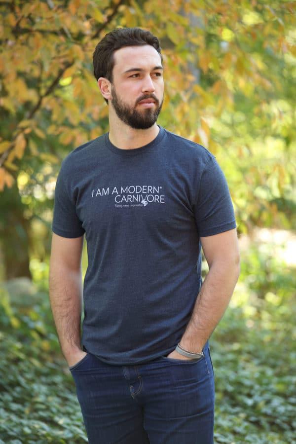 I-Am-A-Modern-Carnivore-Mens-T-shirt-blue