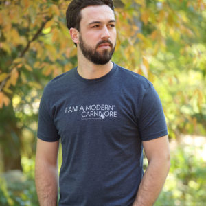I Am A Modern Carnivore Men's T-shirt in blue