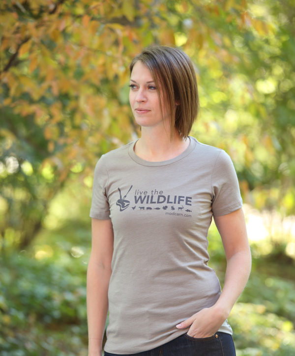 Live The Wildlife Women's T-shirt-Stone Gray