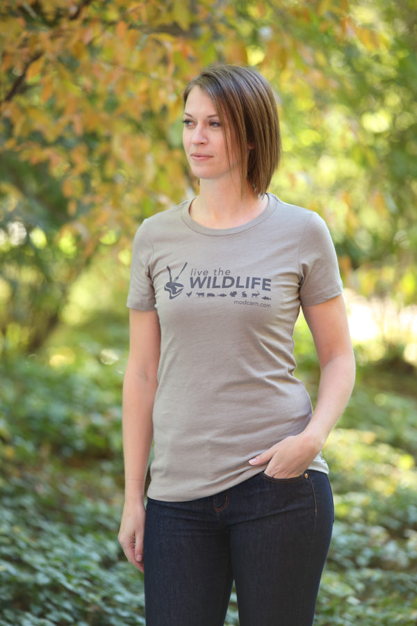 Live The Wildlife Women's T-shirt-Stone-Gray