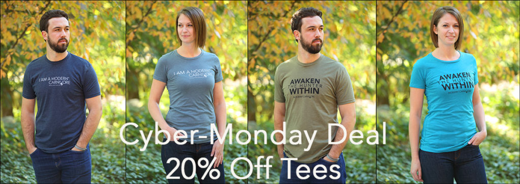 20% off Promotion in the Modern Carnivore store