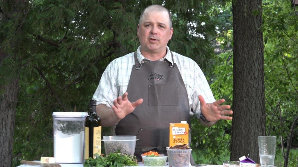 Wild turkey and wild rice soup recipe with Jamie Carlson - Modern Carnivore