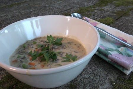 Wild turkey and wild rice soup Modern Carnivore