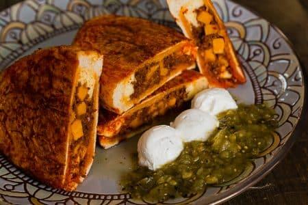 Venison Chorizo Pambazo sandwich